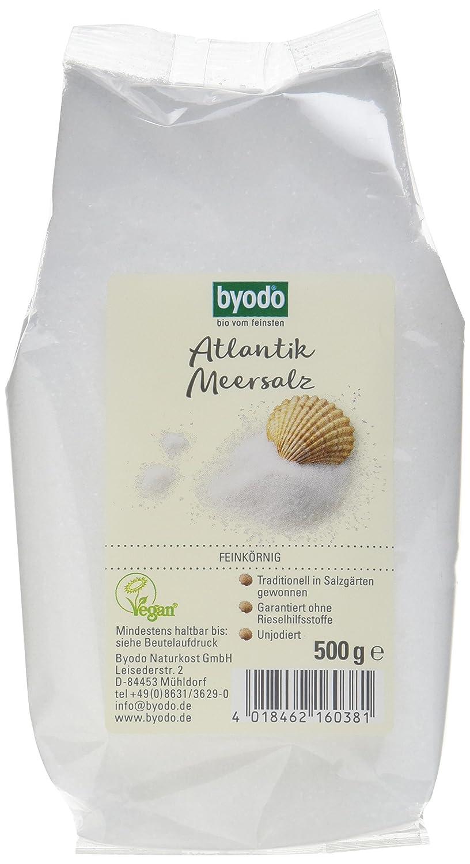 Byodo Atlantik Meersalz Feinkrnig 7er Pack 7 X 500 G Grmepsom Lebensmittel Getrnke