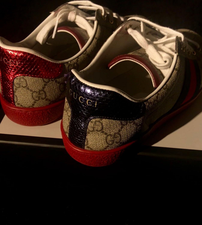 92d8e95e9 Gucci men's shoes trainers sneakers gg supreme ace beige UK size 10 429445  K2LH0 9767: Amazon.co.uk: Shoes & Bags