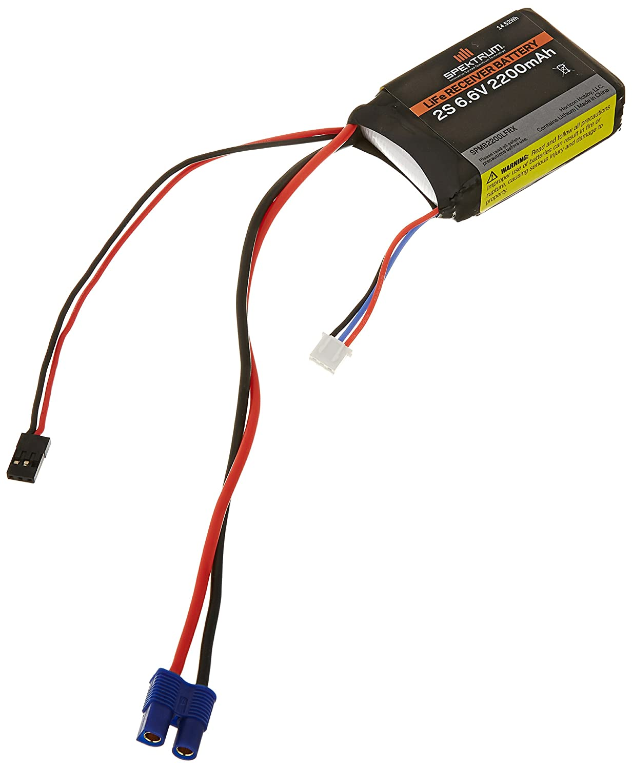 2. Spektrum 2200mAh 2S 6.6V Li-Fe Receiver Battery