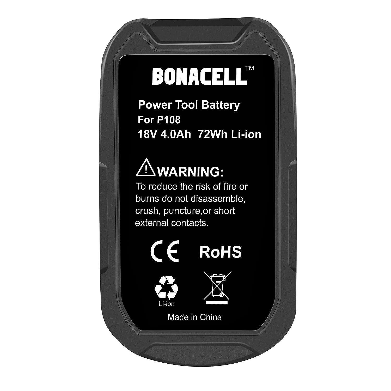 Amazon.com: Bonacell - Batería de repuesto para Ryobi P100 ...