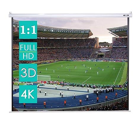 CCLIFE Pantalla para proyector Formato 4:3 Pantalla para proyector ...