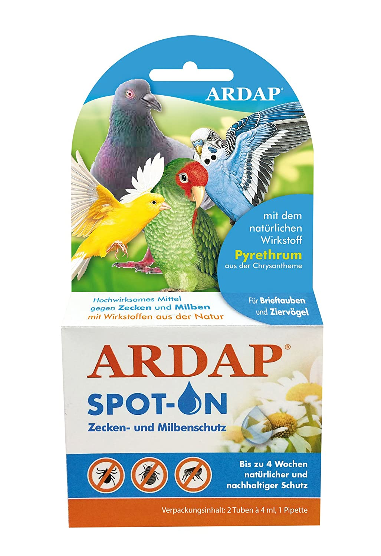 Quiko 077390 Ardap Spot on Zecken und Flohschutz für Ziervögel und Brieftauben