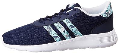 adidas Damen Lite Racer W Niedrige Sneaker Blau