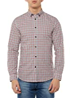 Selected Shhonegingham Shirt Ls, Chemise Casual Homme