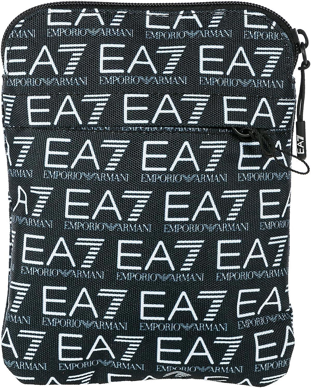 Emporio Armani EA7 bolso con bandolera hombre en Nylon nuevo train monogram blu: Amazon.es: Zapatos y complementos