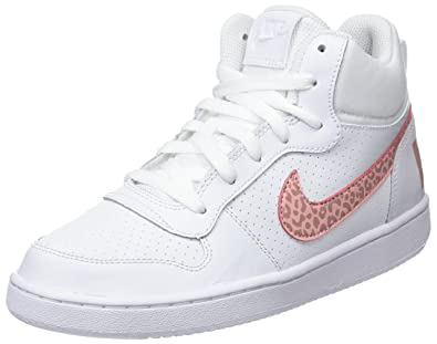 competitive price fa245 22ca6 Nike Court Borough Mid Gg, Chaussures de Gymnastique Fille Blanc (White Rust  Pink