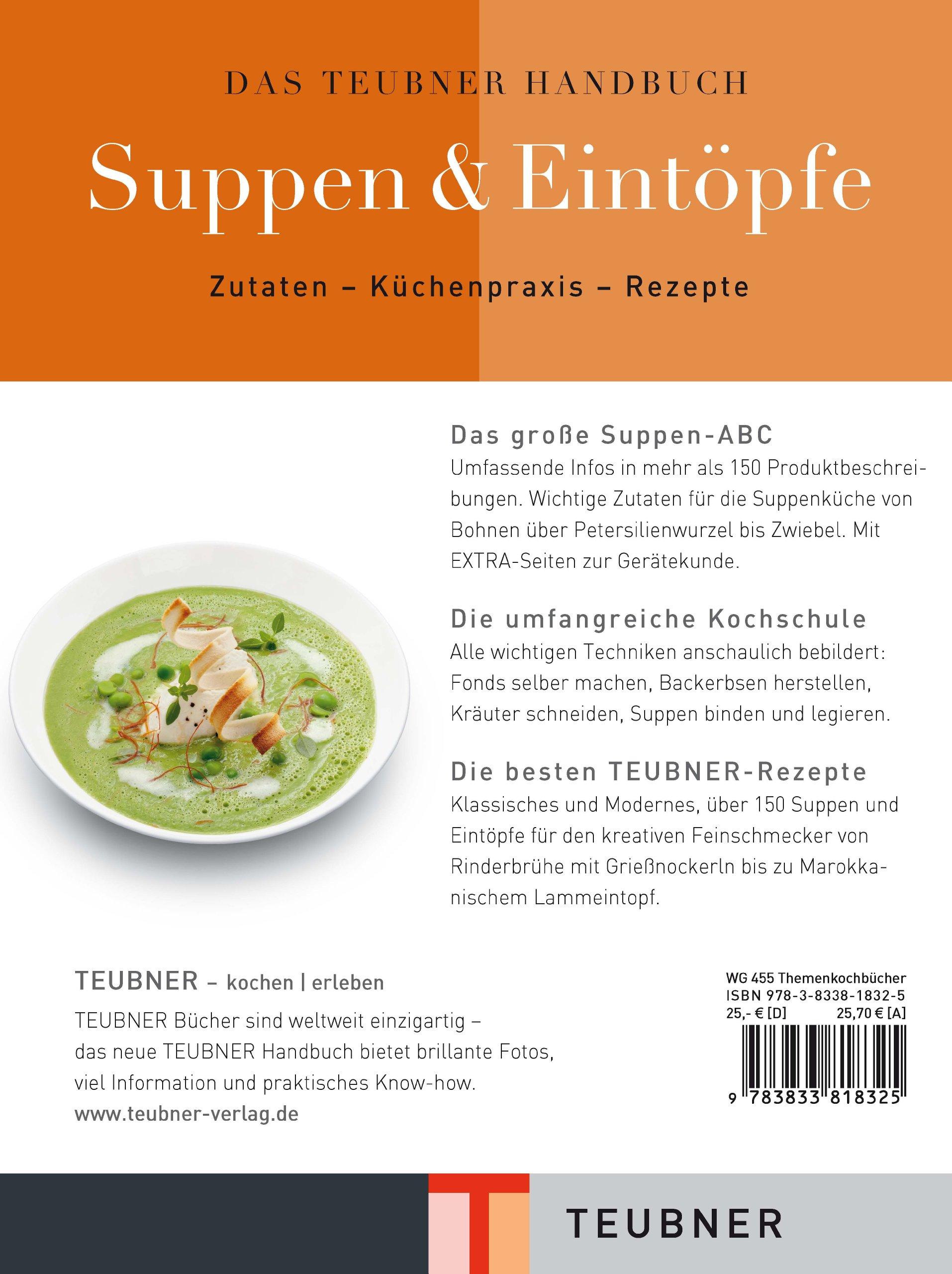 Das TEUBNER Handbuch Suppen und Eintöpfe Teubner Handbücher: Amazon ...