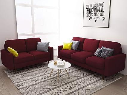 Amazon Com Us Pride Furniture Obadiah Sofa Burgundy Kitchen