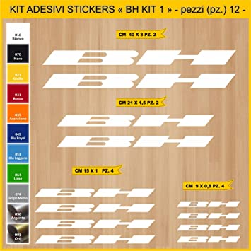 Kit Pegatinas Stickers Bicicleta BH -Kit 1-12 Piezas- Bike Cycle ...