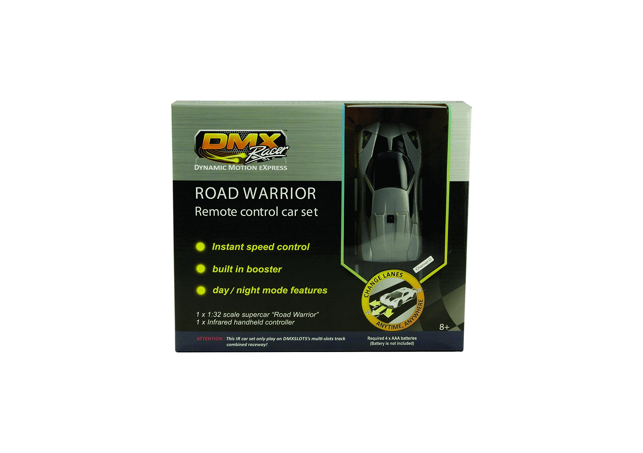 DMXSLOTS Channel D – gray car set with remote controller