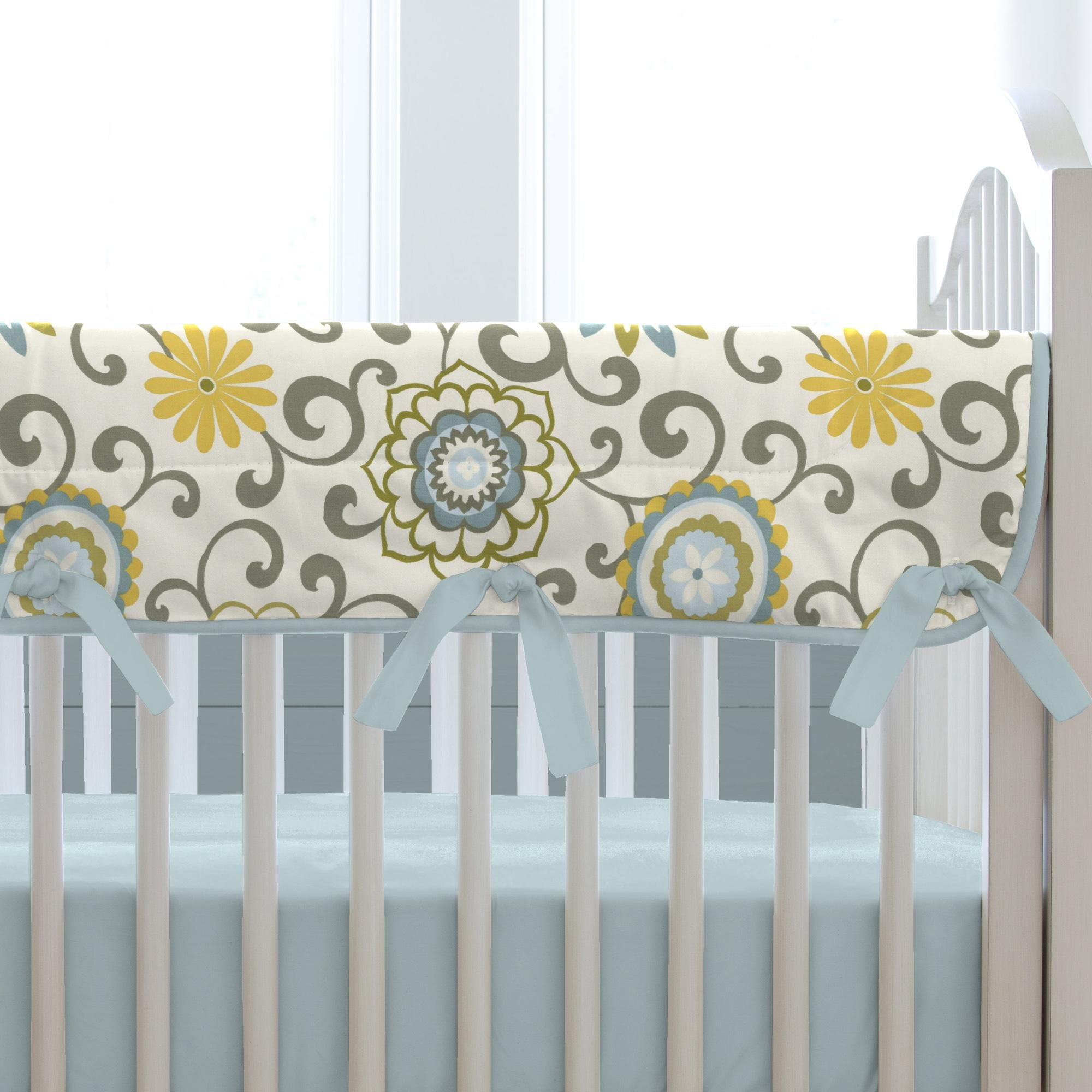 Carousel Designs Spa Pom Pon Play Crib Rail Cover