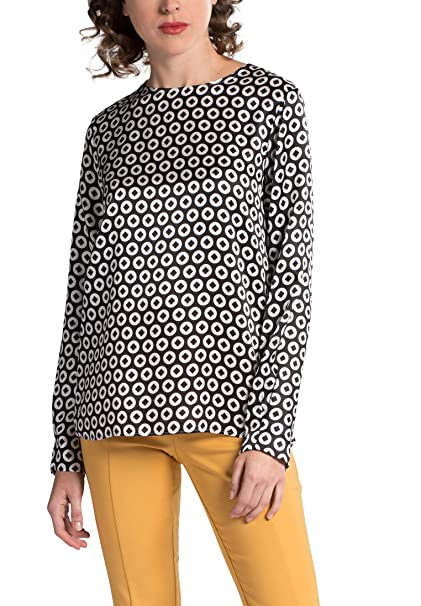 Eterna Long es Sleeve Y By Ropa Blouse Amazon Printed Premium 1863 rrdU6w8fnq