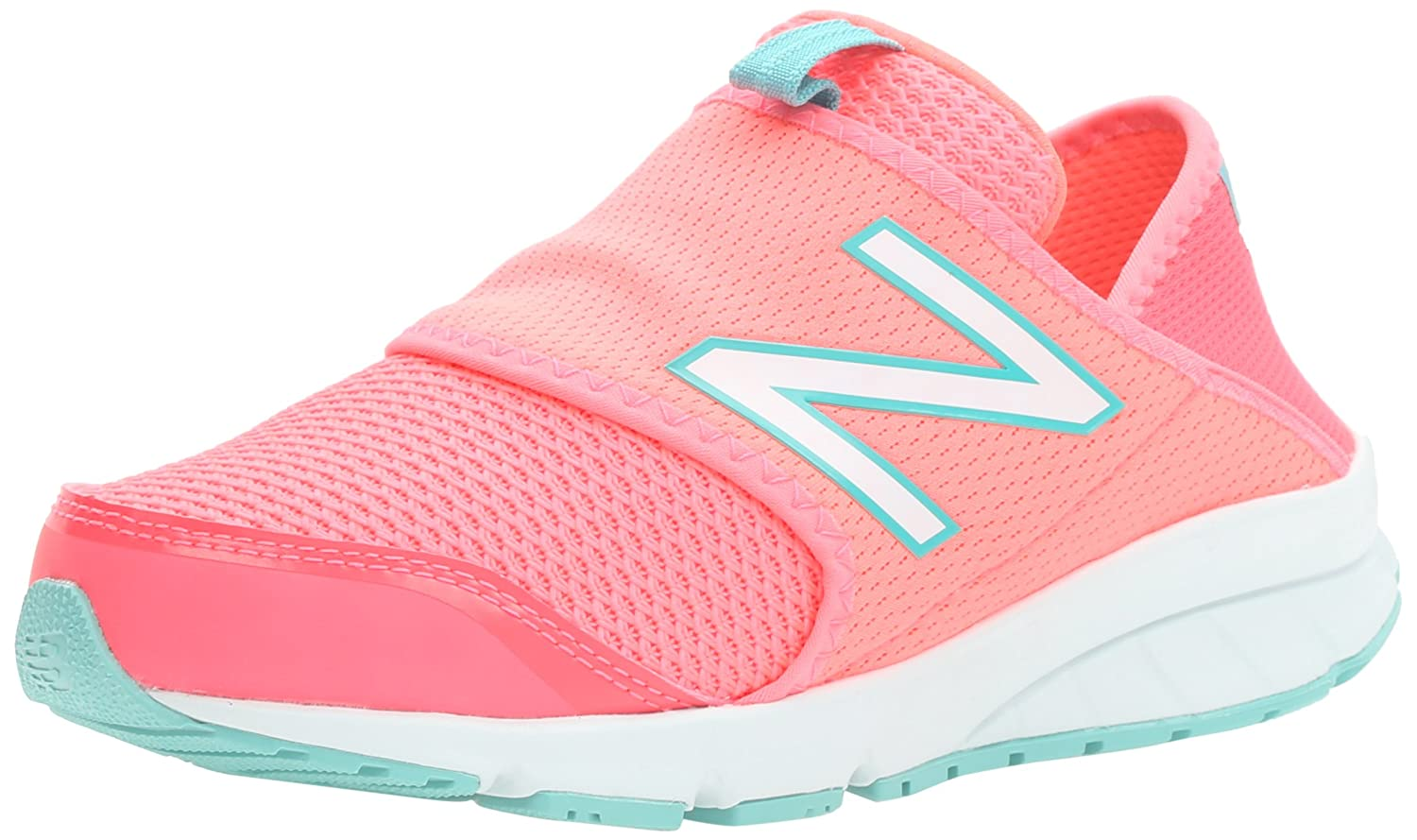 New Balance KJRUSV2 Grade Running Shoe (Big Kid), rosa/Teal, 7 M US Big Kid