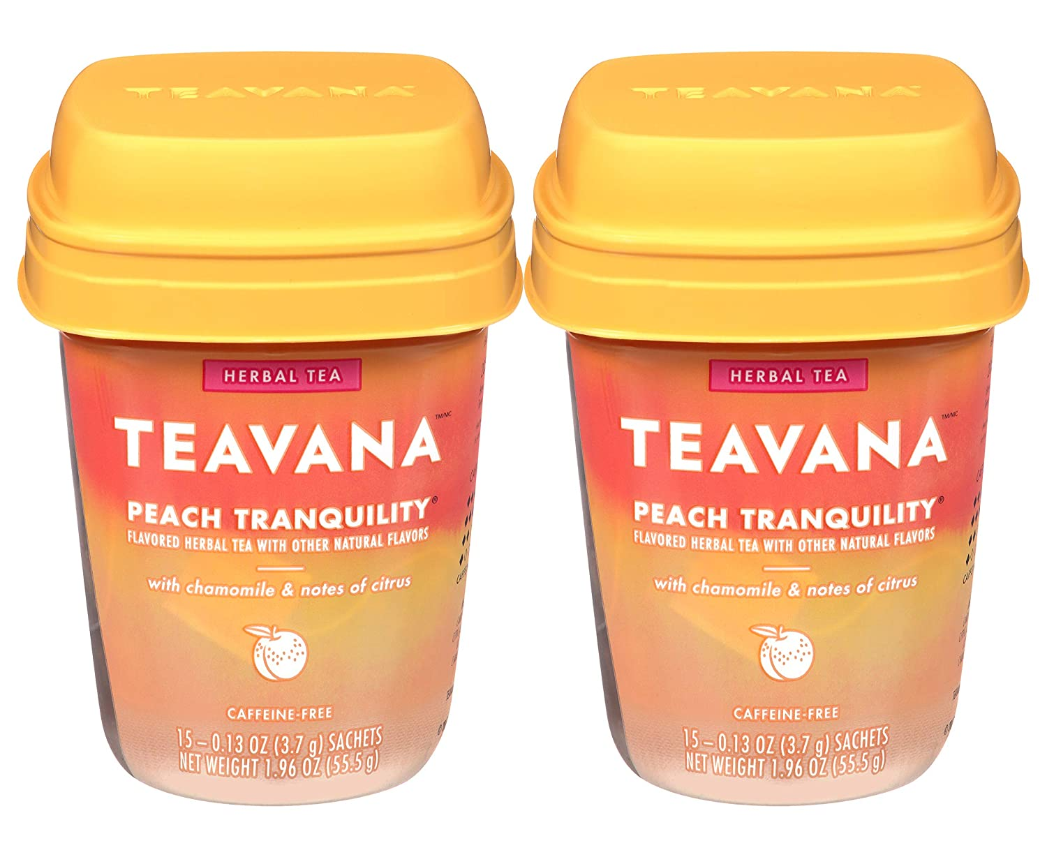 Teavana Peach Tranquility, Herbal Tea With Chamomile and Notes of Citrus, PACK OF 2