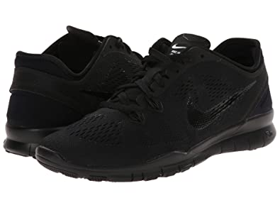 the latest 40ec9 57e28 Nike Free 5.0 TR Fit 5 Womens Cross Training Shoes (5.5, Black Black