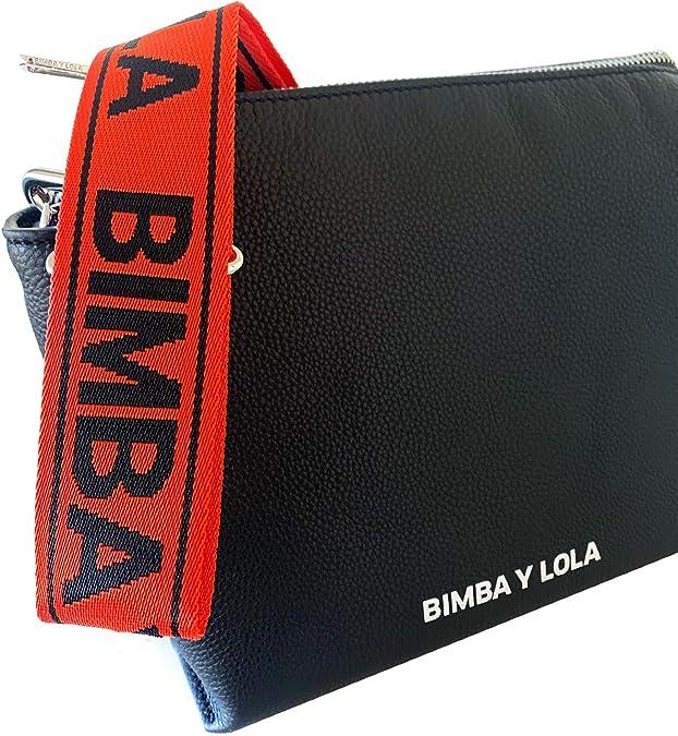 Bimba y Lola 192BBST2H - Bolso cruzado de piel para mujer, color negro: Amazon.es: Zapatos y complementos