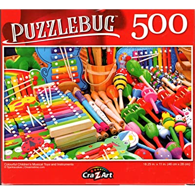 Colourful Chuldrens Musical Toys and Instruments - 500 Pieces Jigsaw Puzzle: Toys & Games