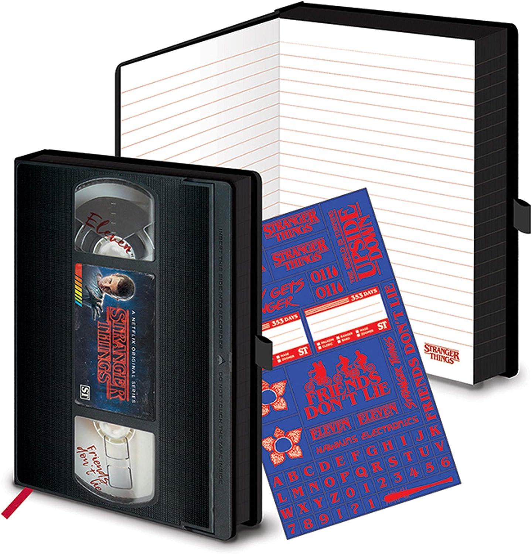 empireposter Stranger Things Logo VHS - Cuaderno de Notas (A5, portatil, Bloc): Amazon.es: Juguetes y juegos