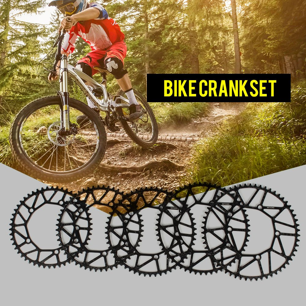 Lixadaバイクサイクリング自転車中空Chainring SingleクランクホイールFolding Bike crankwheel Crankset Bcd 130 mm 5穴Crankset 50t/52t/54t/56t/58t B07CYZQZ1M58T