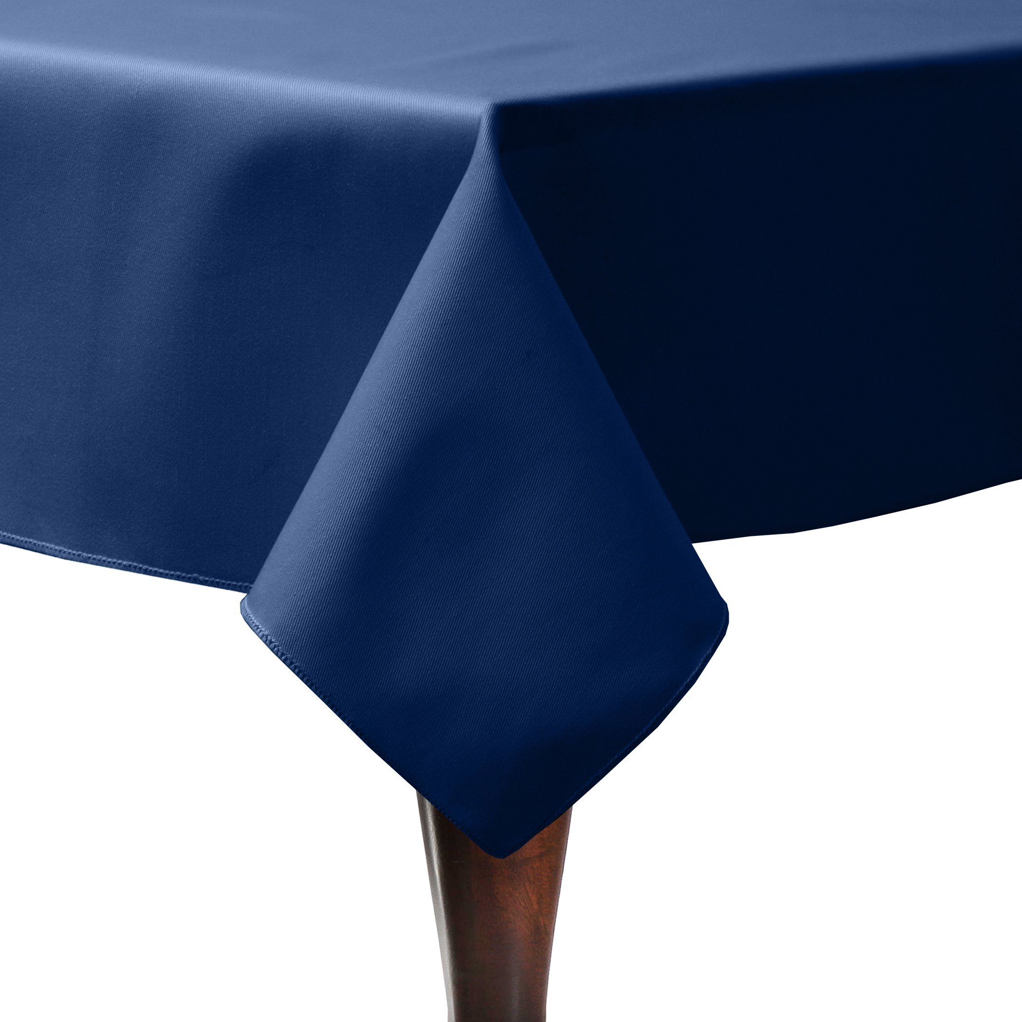 Ultimate Textile (5 Pack) Poly-cotton Twill 60 x 90-Inch Rectangular Tablecloth - for Restaurant and Catering, Hotel or Home Dining use, Navy Blue
