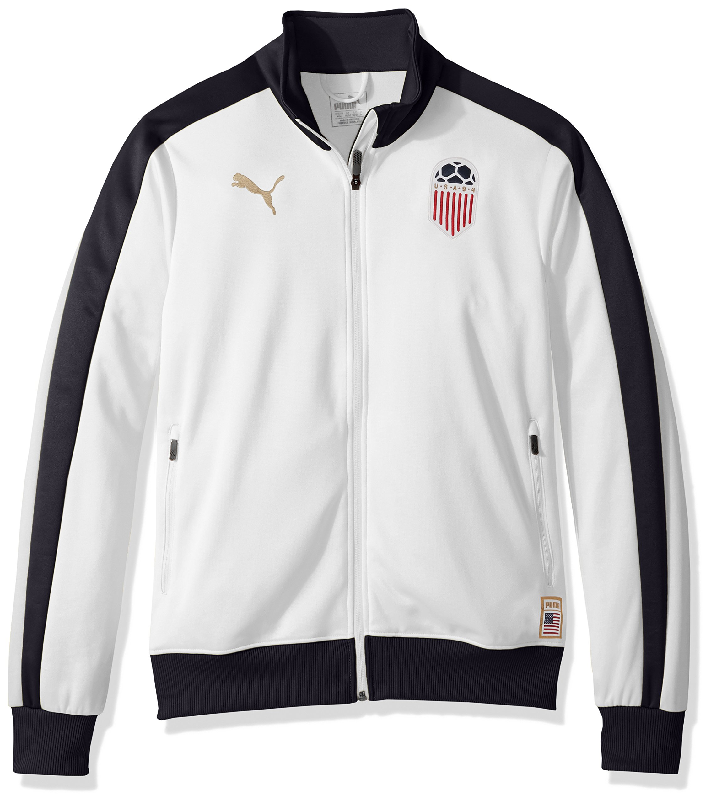PUMA Men's Forever Football T7 Track Jacket, White USA, M