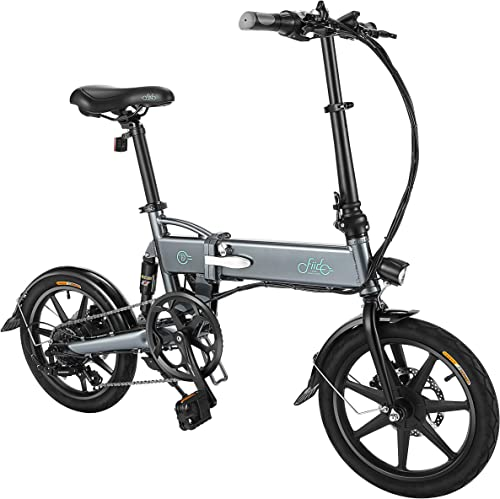 FIIDO Folding EBike, 350W 250W Aluminum Electric Bicycle with Pedal for Adults and Teens, 16 Electric Bike 20Mph with 48V 20AH or 36V 7.8AH Removable Lithium-Ion Battery