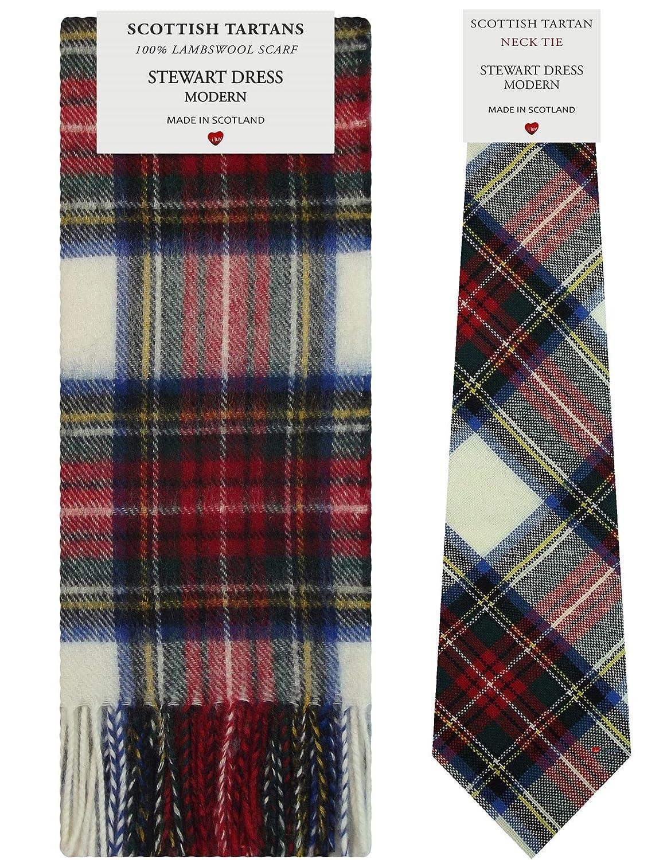 I Luv LTD Conjunto de regalo de bufanda y corbata de tartán de ...