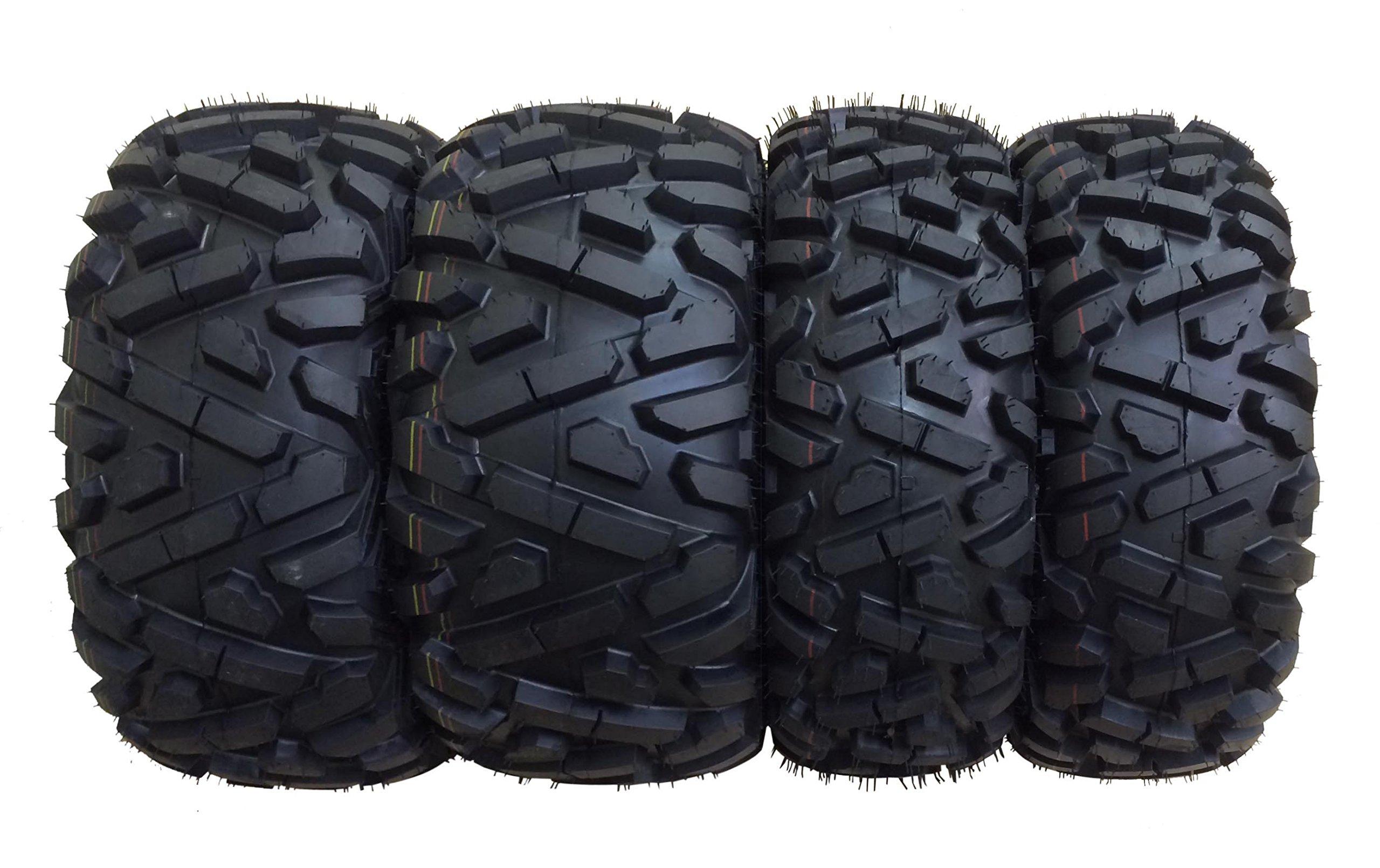 Set of 4 WANDA ATV Tires AT 26x9-12 Front & 26x11-12 Rear /6PR P350 - 10166/10168 …