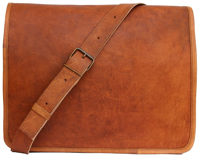 Amazon.com  Handmadecraft Classic Leather Messenger Satchel Laptop Leather  Bag Leather Messenger Bag  Computers   Accessories a57387ea41dd1