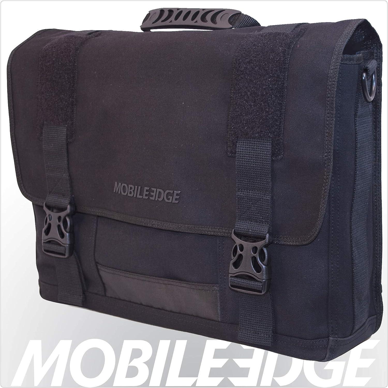 Mobile Edge Laptop Eco Messenger Eco-Friendly, 17.3 Inch Cotton Canvas Black for Men, Women, Business, Student MECME1
