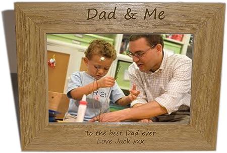 Dad & Me Wooden Photo frame 7 x 5 - Personalise this frame - Free  Engraving: Amazon.co.uk: Garden & Outdoors