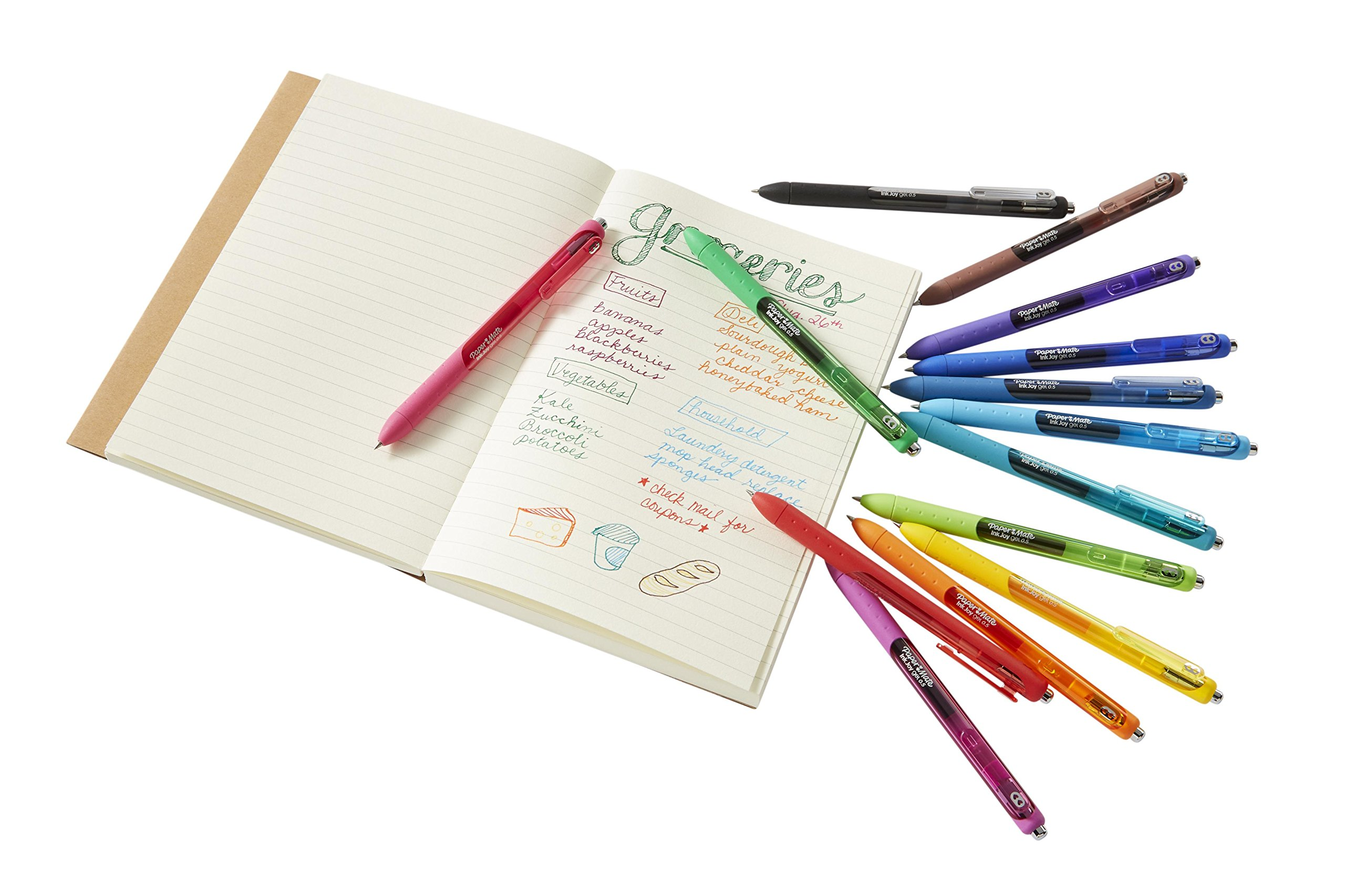 Paper Mate InkJoy Gel Pens, Fine Point, Assorted Colors, 8 Count by Paper Mate (Image #37)