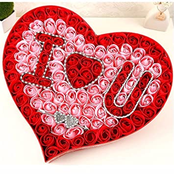 Valentinstag Geschenk Rose Seife Blume Geschenk Box Kreative