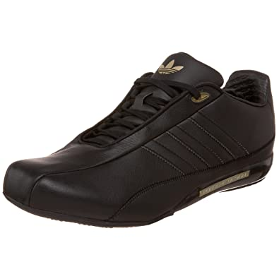 new concept a35a3 748d2 adidas Originals Men s Porsche Design S2 Leather Sneaker,Black Black Gold,4