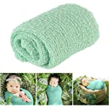 Tinksky Long Ripple Wrap DIY Newborn Baby Photography Wrap-BAby Photo Props (Mint Green)