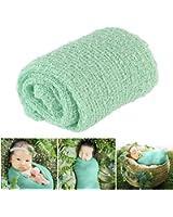 Tinksky Long Ripple Wrap DIY Newborn Baby Photography Wrap-BAby Photo Props (Mint Green)