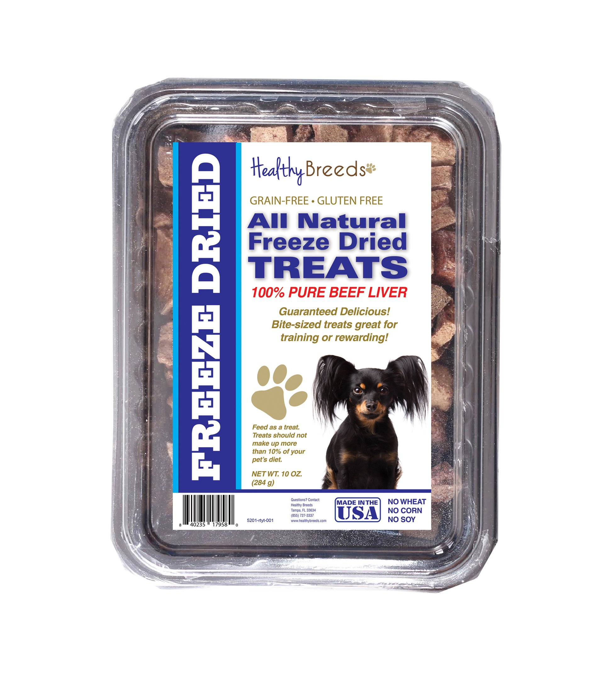Healthy Breeds Freeze Dried Treats for Dogs for Russian Toy Terrier - Over 200 Breeds - Multiple Meats Meat Made in The USA - 8 oz