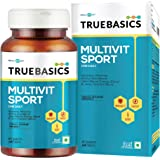 TrueBasics Multivit Sport One Daily, Multivitamins, Multiminerals, Anti-oxidants, Amino Acids with Joint & Energy Blends, Nutrition Supplement for bodybuilding & gym goers, 90 Veg Tablets