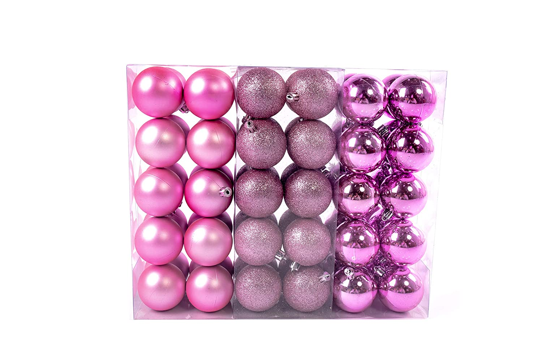Lifestyle & More 60 Piezas Bolas de Navidad de 6cm, Adornos de ...