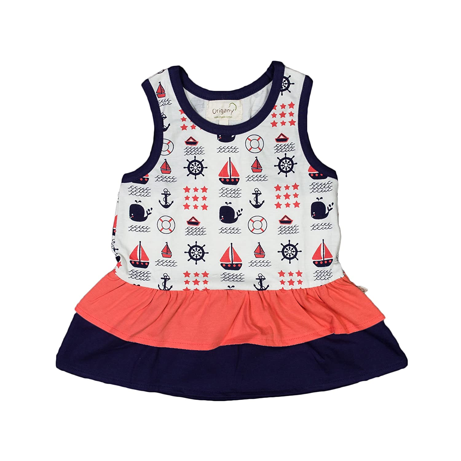Origany Little Girls Nautical Frills Top
