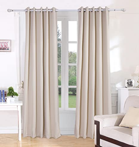 Vantextile Super Soft Thermal Insulated Eyelet CurtainsBlock Out Most Of Light And UV Ray