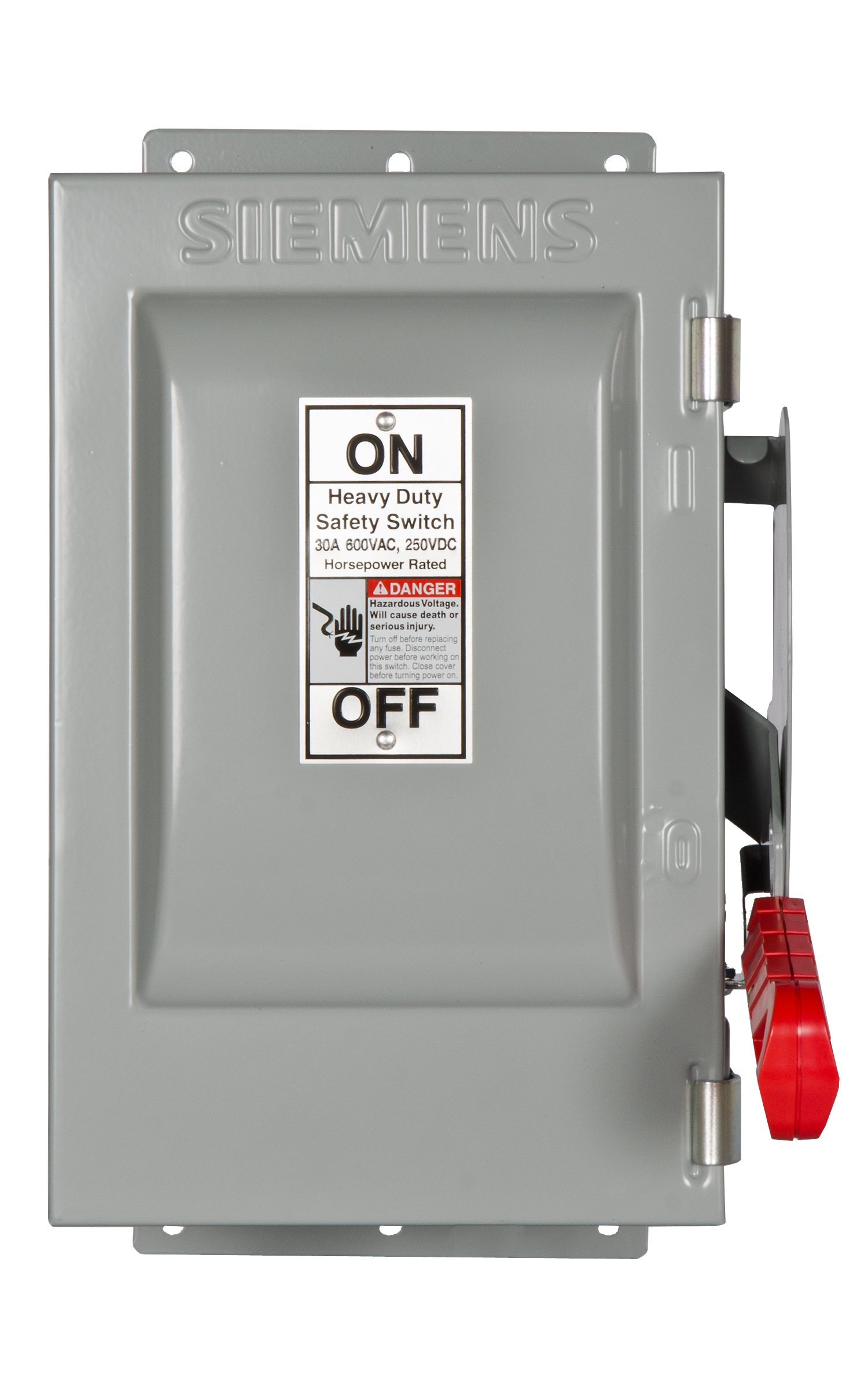 Siemens HNF361J 30-Amp 3 Pole 600-volt 3 Wire Non-Fused Heavy Duty Safety Switches by Siemens