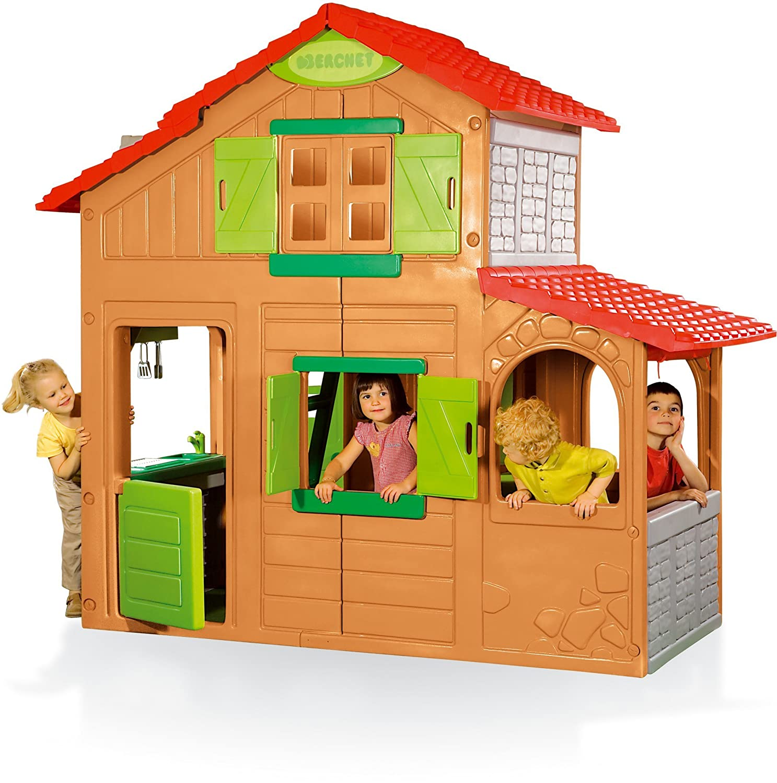 smoby 320023 flora lie duplex house toy amazon co uk toys games simba smoby floralie duplex house