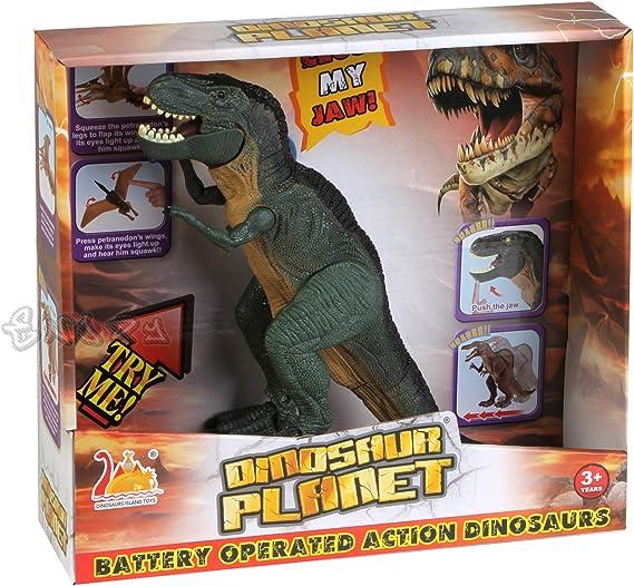 T-Rex Dinosauro Jurassic Spinosauro Grande con Azione luci Suoni CAMMINA DAVVERO