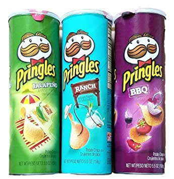 Pringles Stacks - Bundle of 3 (Game Day Poppers)