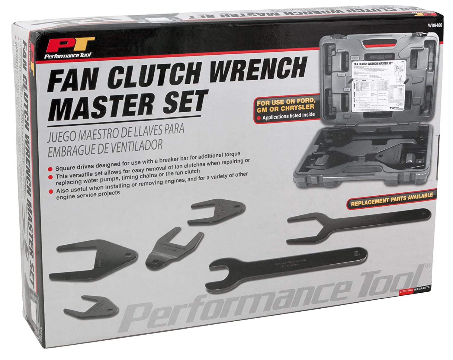 Amazon.com: Performance Tool W89400 10-Piece Fan Clutch Wrench Set: Home Improvement