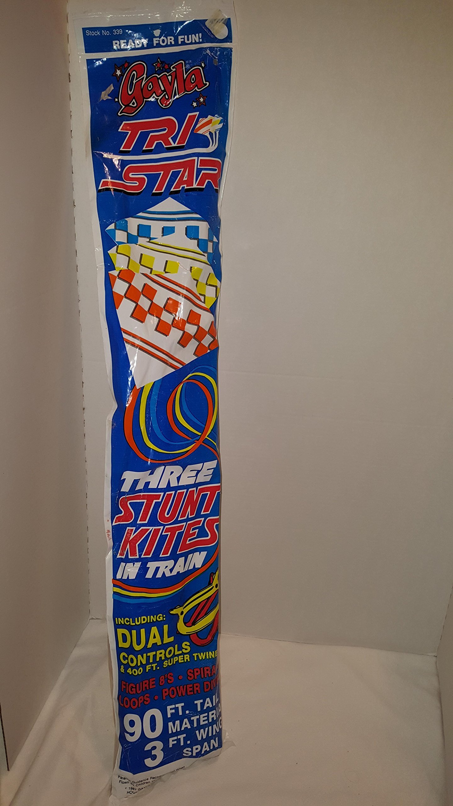 1987 Gayla Tri-star 3 Stunt Kites In Train by Unknown