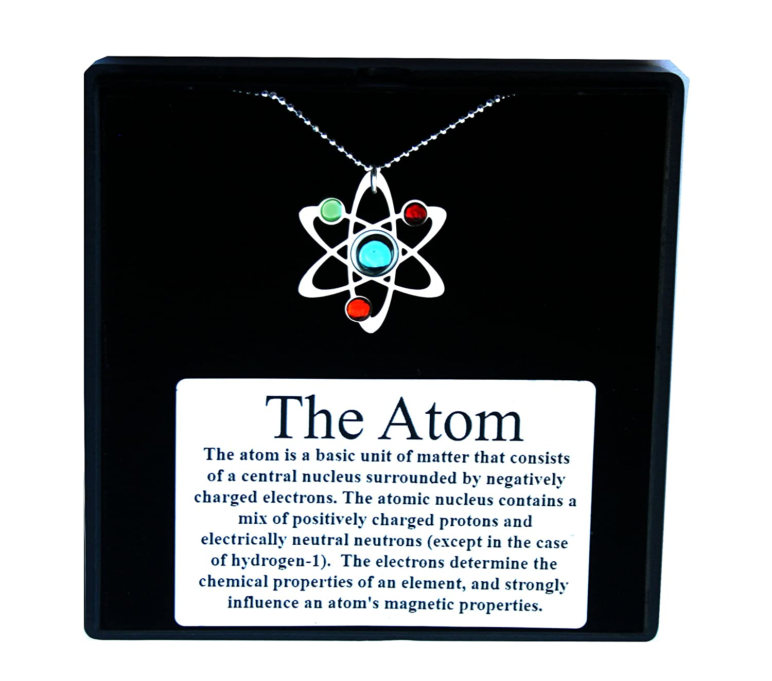 Amazon Science Symbol Necklace Sterling Silver Chain And Silver