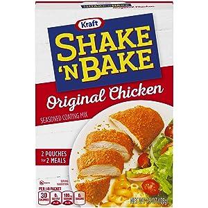 Kraft Shake N Bake Seasoned Coating Mix Box, Original Chicken, 4.5 Ounce (Pack of 12)