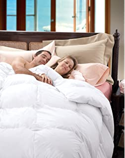 cuddledown temperature regulating 700 fill power down comforter queen level 1 white - Queen Down Comforter